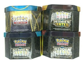 Lot Of 4 Pokemon Tin Metal Boxes For Storing Trading Cards (Boxes Only) - $11.88