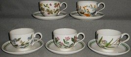 Set (5) Portmeirion BOTANIC GARDEN PATTERN Footed Cup and Saucer Sets - $79.19