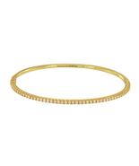 Tiffany&Co. Yellow Gold METRO Diamond Hinged Bangle   - $4,100.00