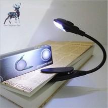 Led Book Light Clip On Flexible Mini Reading Lamp Bedroom Travel Univers... - $5.88