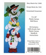 Plastic Canvas Design Works Mary Maxim Snowstack Snowmen Wall Decor Kit ... - $16.99