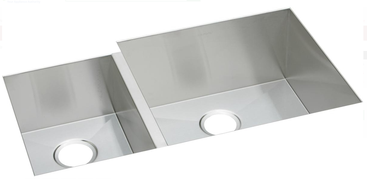 "Primary image for Elkay EFU352010L Crosstown 2-Bowl 35"" Undermount Kitchen Sink in Polished Satin"
