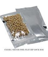 """4x6"""" Clear & Silver Aluminium Foil Reusable Zip Bag Food Save Flat Mylar... - $5.39+"""