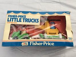 Vintage 1980 Fisher Price Little Trucks Copter Rig Set # 344 MIB Sealed - $48.51