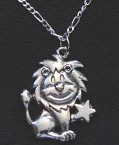 LOOK Leo Silver STAR Pendant Zodiac Charm Celtic Jewelry Cartoon Lion