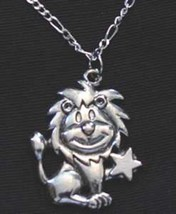 LOOK Leo Silver STAR Pendant Zodiac Charm Celtic Jewelry Cartoon Lion - $20.74