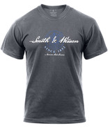 """Smith & Wesson Charcoal Grey """"American Made Firearms"""" T-Shirt - $17.99"""