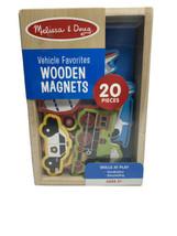Melissa & Doug Vehicle Favorites Wooden Magnets (20 Pieces) Ages 2+ W7 - $13.54