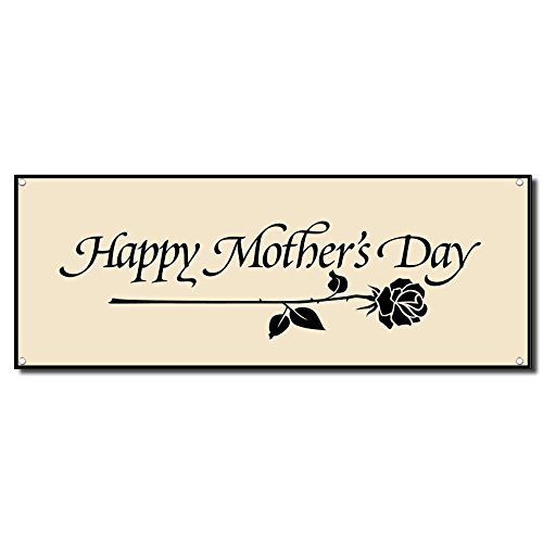 Happy Mother's Day Vinyl Banner Sign w/Grommets 5 Ft X 10 Ft