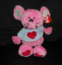 Ty Pluffies 2005 Patter The Baby Pink Mouse W/ Shirt Stuffed Animal Plush Toy - $15.99