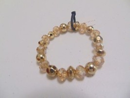 """Charter Club gold  and amber beaded  5 3/4 """" light  stretch  bracelet  A284 - $9.59"""