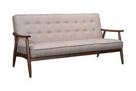 Offex Modern Faux Leather Rocky 3-Seat Button Tufted Sofa for Living Room - $899.00