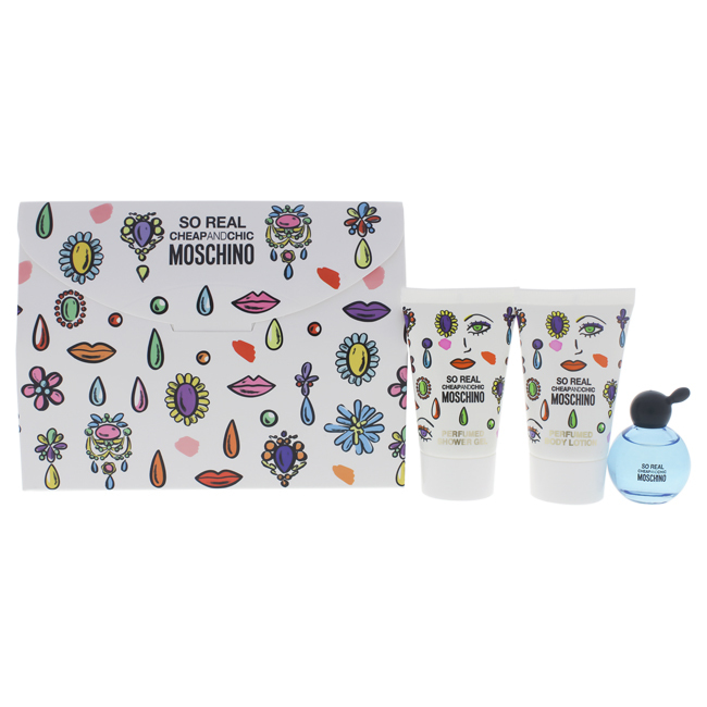 Moschino Cheap And Chic So Real 3  Pc Gift Set - $20.36