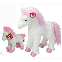 Avalon The Horse Beanie Baby and Buddy Set Retired MWMT Collectible Pink... - $34.60