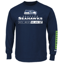 Majestic Men's NFL Primary Receiver Long-Sleeved Tee Seahawks M #NIO26-414 - $24.99