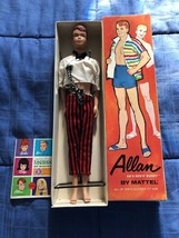 Vintage Mattel Barbie 1963 Allan Doll With Original Box Stock No. 1000 - $44.54