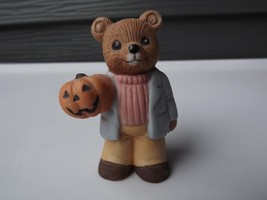 Homco Porcelain Teddy Bear Halloween Pumpkin Figurine - $14.01