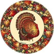 "Autumn Turkey 10 9"" Luncheon Plates Lunch Fall Thanksgiving - $3.46"