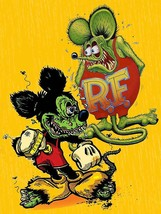 Frienemies Love Hate Relationship Rat Fink & Mickey Big Daddy Ed Roth Me... - $34.95