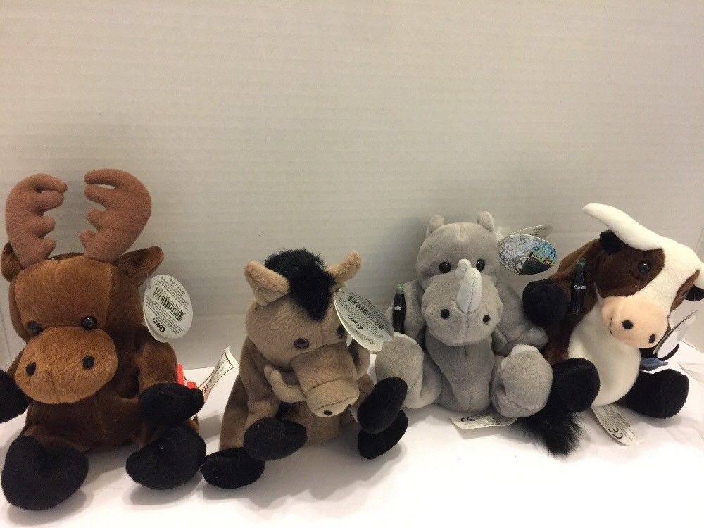 Primary image for Coca Cola Animal Plush Collection Wild Animals See Pictures Collectible Coke Zoo