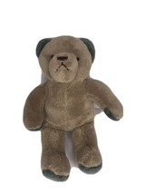 "NAP Brookstone Brown Tan Plush Stuffed Teddy Bear Soft Toy Green 10"" - $38.69"