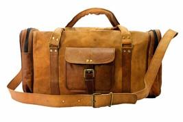 22 Inch Duffel Weekender Travel Handmade Genuine Leather Bags for Men Women - $24.75