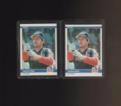 1984 Fleer #58 Carlton Fisk Chicago White Sox Lot of 2 - $1.00