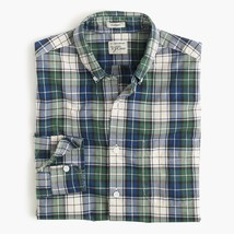 NWT J.Crew Men's Secret Wash long sleeve shirt in blue green tartan Size S - $46.75