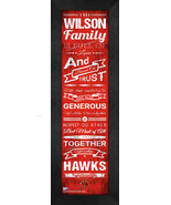 "Personalized University of Hartford ""Hawks"" 24x8 Family Cheer Framed Print - $39.95"