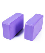 Adeco Purple High Density Exercise and Fitness Yoga & Pilates Blocks - S... - $12.34