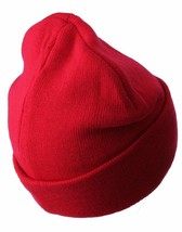 Asphalt Yacht Club Mens Red Solid Triangle Cuff Fold Skate Beanie Winter Hat NWT image 2