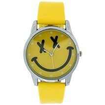 TOC Girls Analogue Yellow Emoticon Face & Yellow PU Strap Watch EYW001 - $16.02