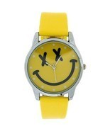TOC Girls Analogue Yellow Emoticon Face & Yellow PU Strap Watch EYW001 - $19.92 CAD