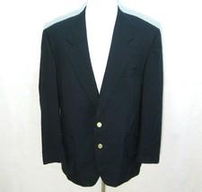 MOORES Men's (Size 44R) Navy Blue 2 Button Blazer Sport Coat Jacket Wool... - $26.50