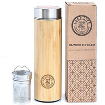 Original Bamboo Tumbler with Tea Infuser & Strainer by LeafLife | 17oz - €38,55 EUR