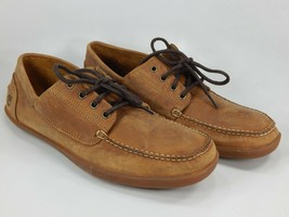 Timberland Odelay Camp 4-Eye Sz 12 M EU 46 Men's Leather Boat Shoes Brow... - $72.22