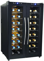 NewAir Wine Cooler 32-Bottle Pull Out Rack Thermoelectric Cooling Black - $512.56