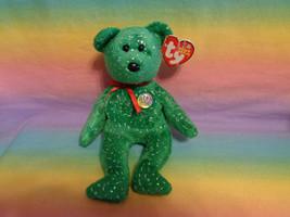 2003 Ty Beanie Babies 10 Year Anniversary Decade Green Bear w/ Sparkles - $2.23