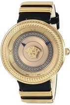 Versace VLC030014 V-metal Icon Gold Dial Ladies Watch - $2,588.32