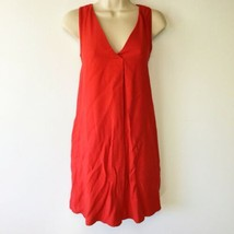 Ann Taylor Loft Dress Size XS Womens Coral Sleeveless A-Line Pockets Ray... - $19.79