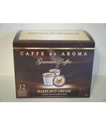 Caffe de Aroma Hazelnut flavored 12 Single Serve K-Cups OK for 2.0 - $10.45