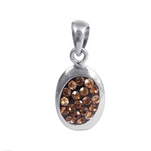 Sterling Silver Gemstone Pendant for girls, Delicate pendant - $20.00