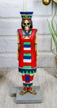 Ebros Tenochtitlan Aztec Queen Skeleton Day of The Dead Sculpture Figuri... - $26.99