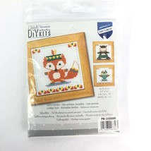 Cute Animals Counted Cross Stitch Kit Vervaco - 3 Patterns Fox Owl Hippo - $18.68