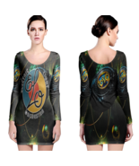 Electric Light Orchestra Women Sexy Long Sleeve Bodycon  Dress - $24.80+