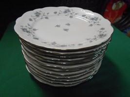 "Beautiful Johann Haviland .."" Blue Garland"" -Bavaria 13 Bread Plates..6""dia - $48.22"