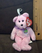 """TY Basket Beanie Baby - EGGS the Pink Bear  5"""" - MWMT's 2001 - $1.99"""