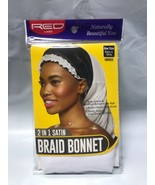 RED BY KISS 2 in 1 SATIN BRAID BONNET ONE SIZE BLACK & WHITE HBR02 - $1.97