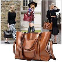 New Retro Fashion Cowhide Leather Bags Handbags Women Crossbody Bag Trunk Tote D