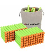 Amosting 100 Count Green Foam Soft Round Refill Darts Bag For Nerf N Str... - $7.83